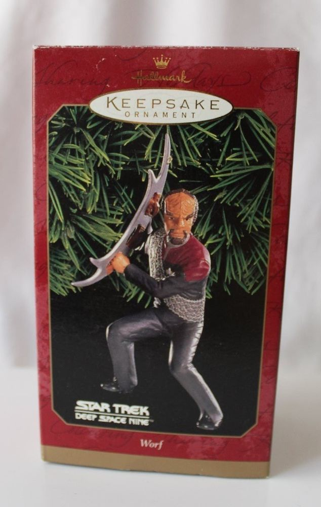 Hallmark Keepsake Ornament Worf Star Trek Deep Space Nine om Ebay