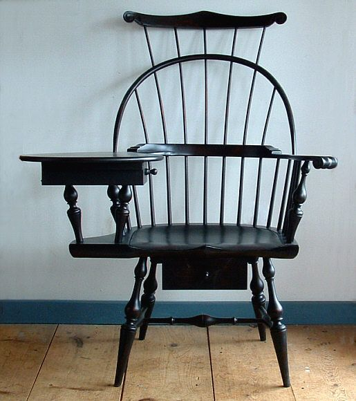 Three Back Writing Windsor Arm Chair Antique Reproduction Furniture  Reproductions {I Want One.