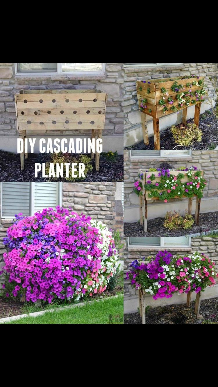 Neat Idea Cascading Planter Recycled Planters Pallet 400 x 300