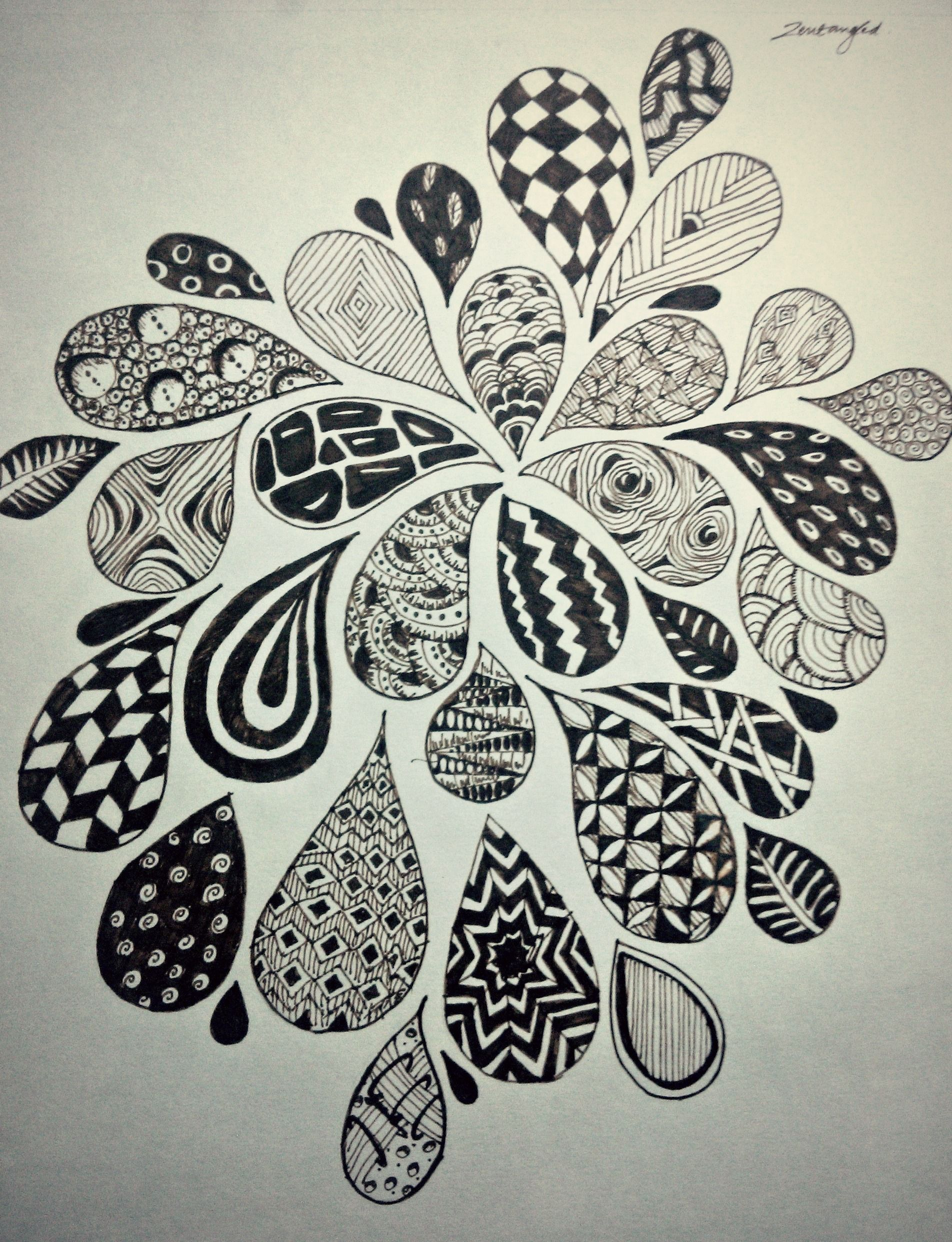 Flower burst zen drawing inspiration pinterest for What to draw inspiration