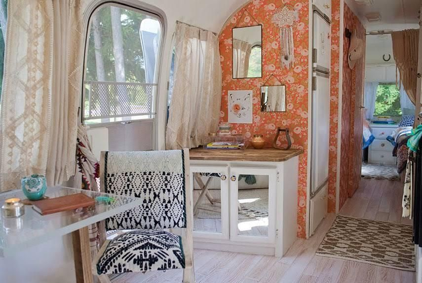 Blogger Sarah Schneider turned an old Airstream into a haven for her whole family.