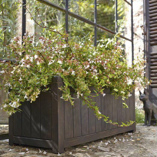 Jardiniere A Reserve D Eau En Polyethylene Eda L 100 X L 40 X H 40 Cm Bois Reserve D Eau Jardinage Et Eau