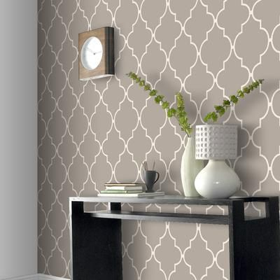Wallpaper That Looks Like Spanish Tile Google Search Wallpaper Living Room Decor Accent Walls In Living Room