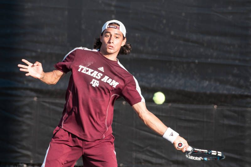 Despite Rain, Aggies Pour It On For Second Day At Conference Challenge The Texas A&M men's tennis team fought off the rain for a successful ...