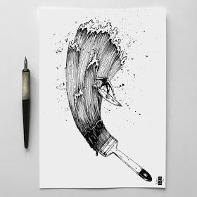 Photo of Fantasy and Surreal Ink Drawings