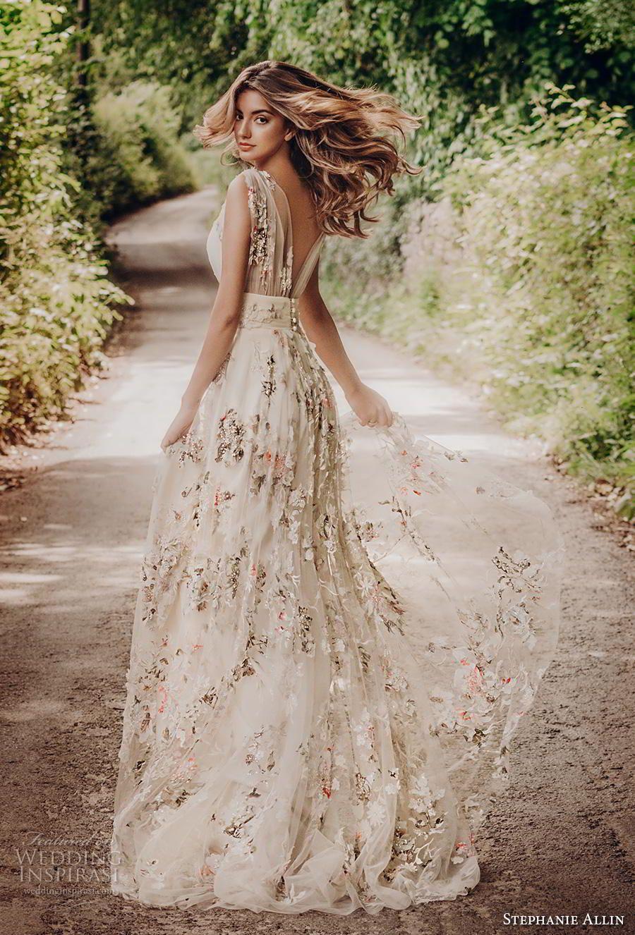 Stephanie Allin 2019 Wedding Dresses Love Stories Bridal Collection Wedding Inspirasi Floral Wedding Dress A Line Wedding Dress Casual Wedding Dress [ 1326 x 900 Pixel ]