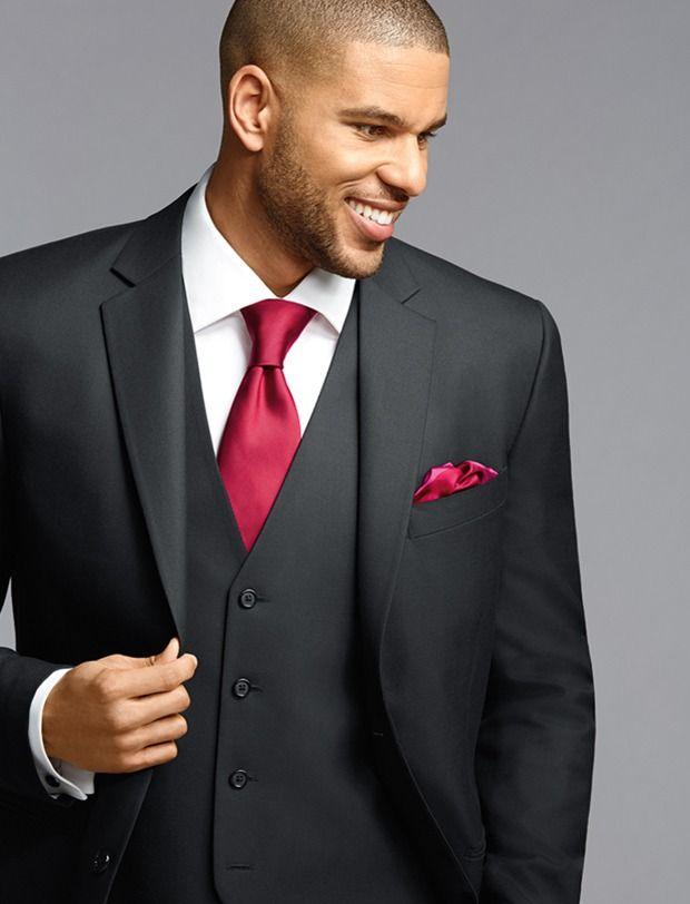 Pronto Uomo Vintage Black Two-Button Super 120\'s Suit | Wedding ...