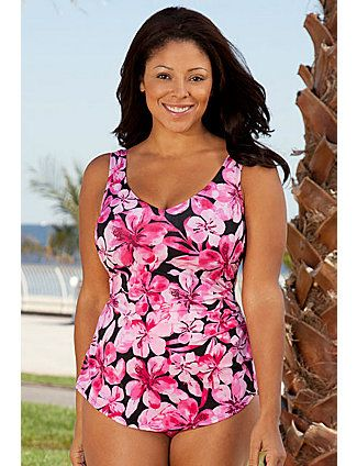7493a1ad34 Beach Belle Honolulu Sarong Front Swimsuit