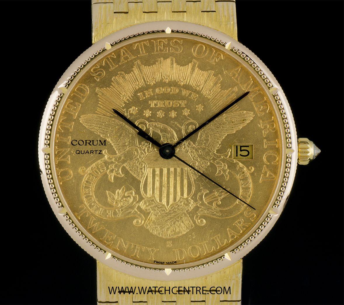 CORUM 18K YELLOW GOLD USA TWENTY DOLLAR COIN QUARTZ GENTS WRISTWATCH  http://www.watchcentre.com/product/corum-18k-yellow-gold-usa%C2%A0twenty-dollar-coin-quartz-gents-wristwatch/7074  #Corum #18kYellowGold #USA #TwentyDollarCoin #Gents #Wristwatch #Luxury #Timepiece #WatchCentre