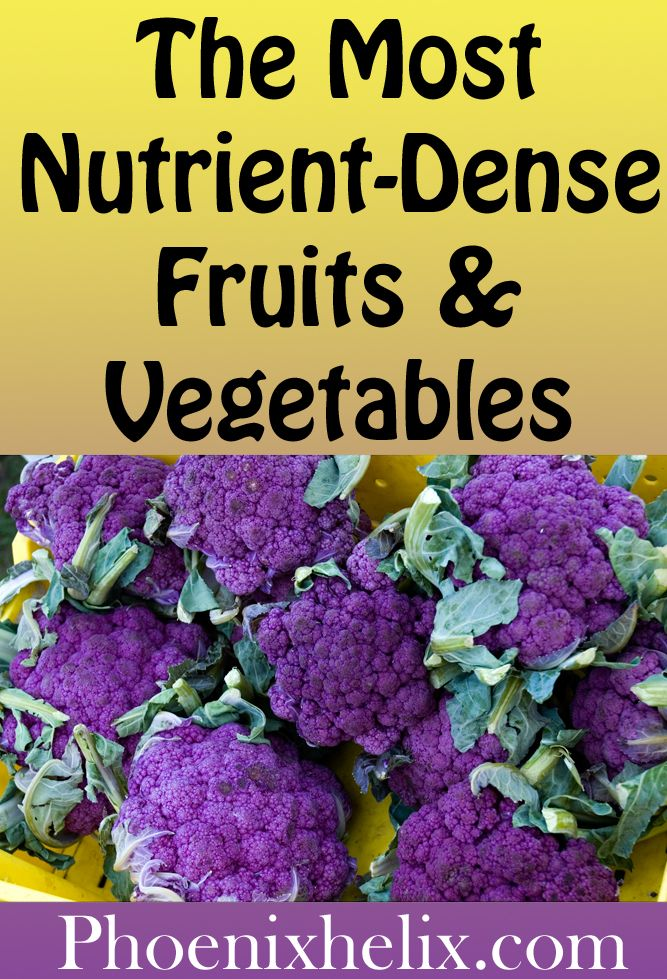 The Most Nutrient-Dense Fruits & Vegetables The Most Nutrient-Dense Fruits and Vegetables | Phoenix Helix
