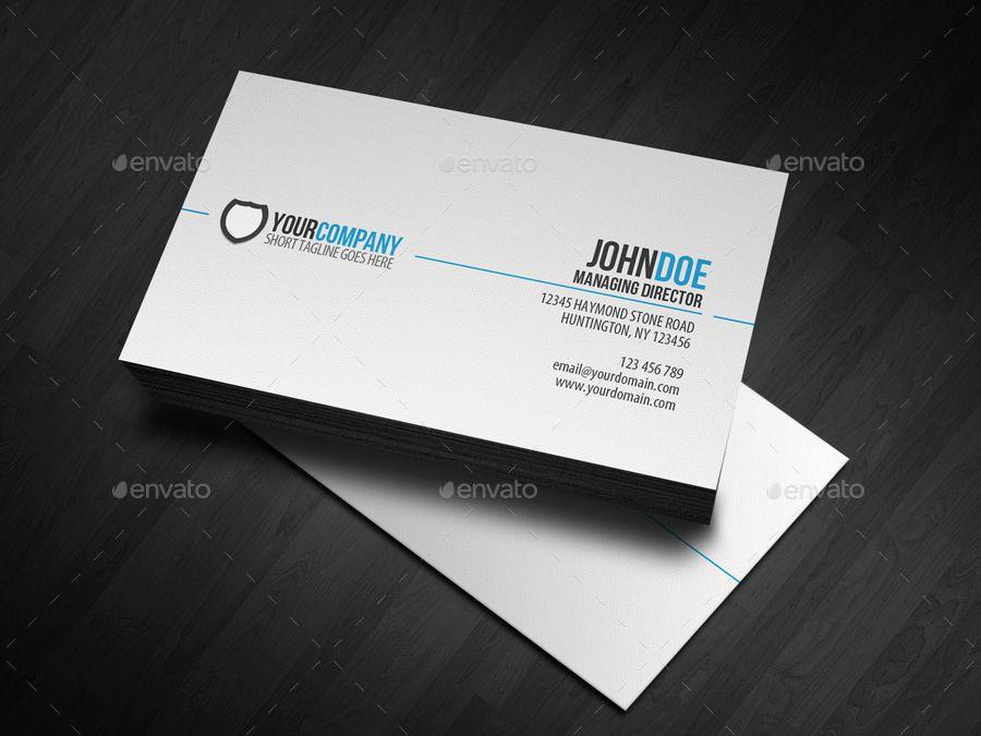 Simple Business Card Design Unique 20 Professional Business Card