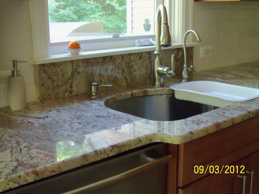 Fine Pictures Of Granite Behind Sink Under Window Sill Re Beutiful Home Inspiration Cosmmahrainfo