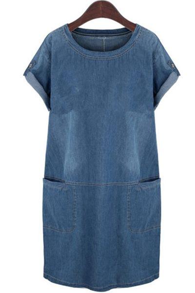 Easy on Denim Day Dress w/ deep pockets