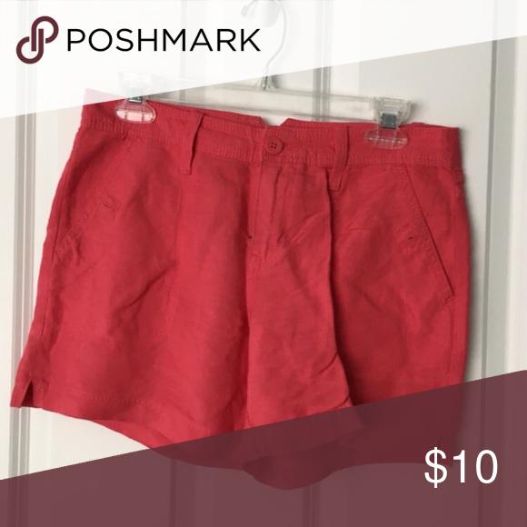 Calvin Klein Shorts EUC coral colored, 53%linen 47%viscose Calvin Klein Shorts
