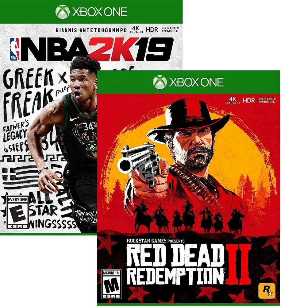 Red Dead Redemption 2 +NBA 2K19 (Download Card)- Xbox One NEW #2K
