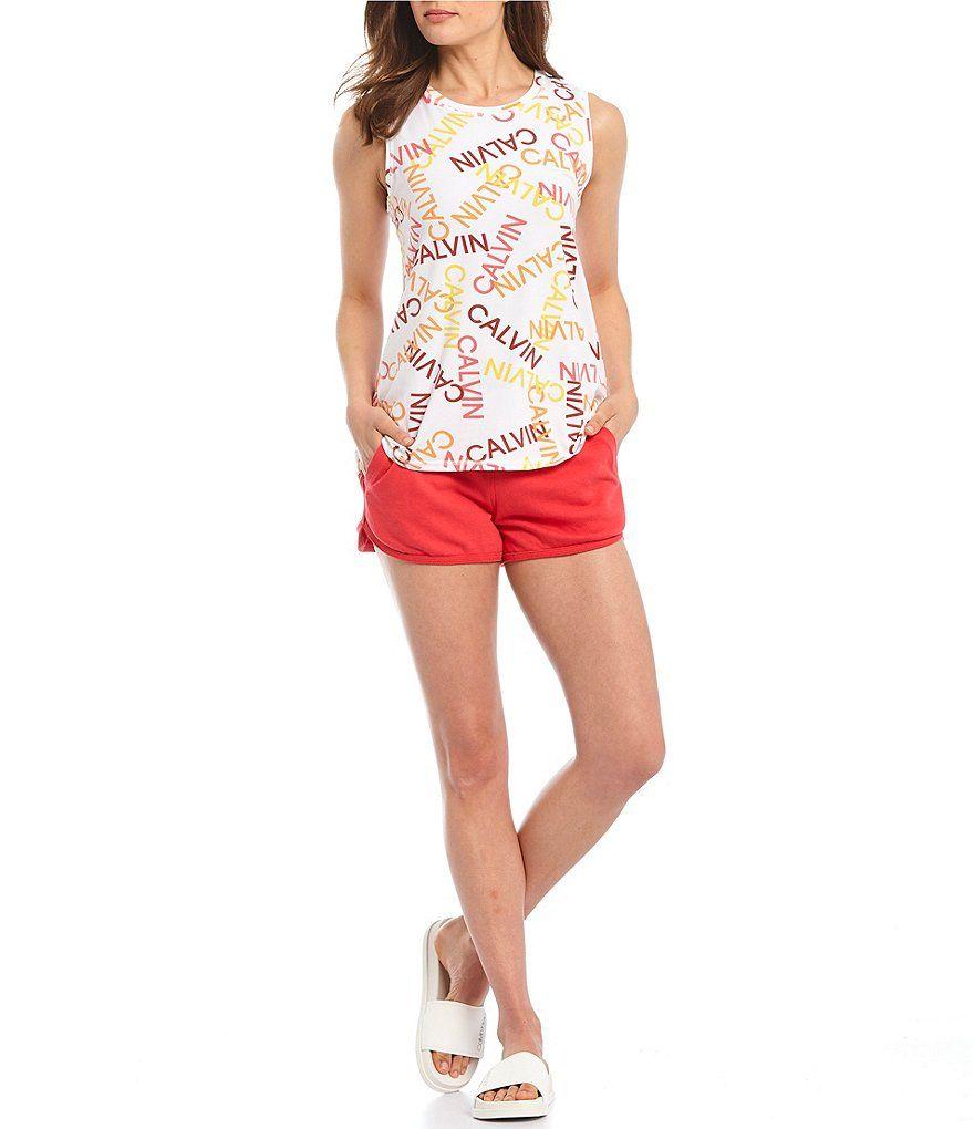 Calvin Klein Animal Print Scoop T Shirt