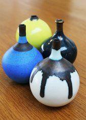 Tiny Bottles by Richard Baxter - £30 each http://www.riversideartandglass.co.uk/artists/richard-baxter-2.html