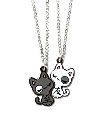 Best Friends Cats Necklaces By Sugar Bunny Shop - #Kawaii