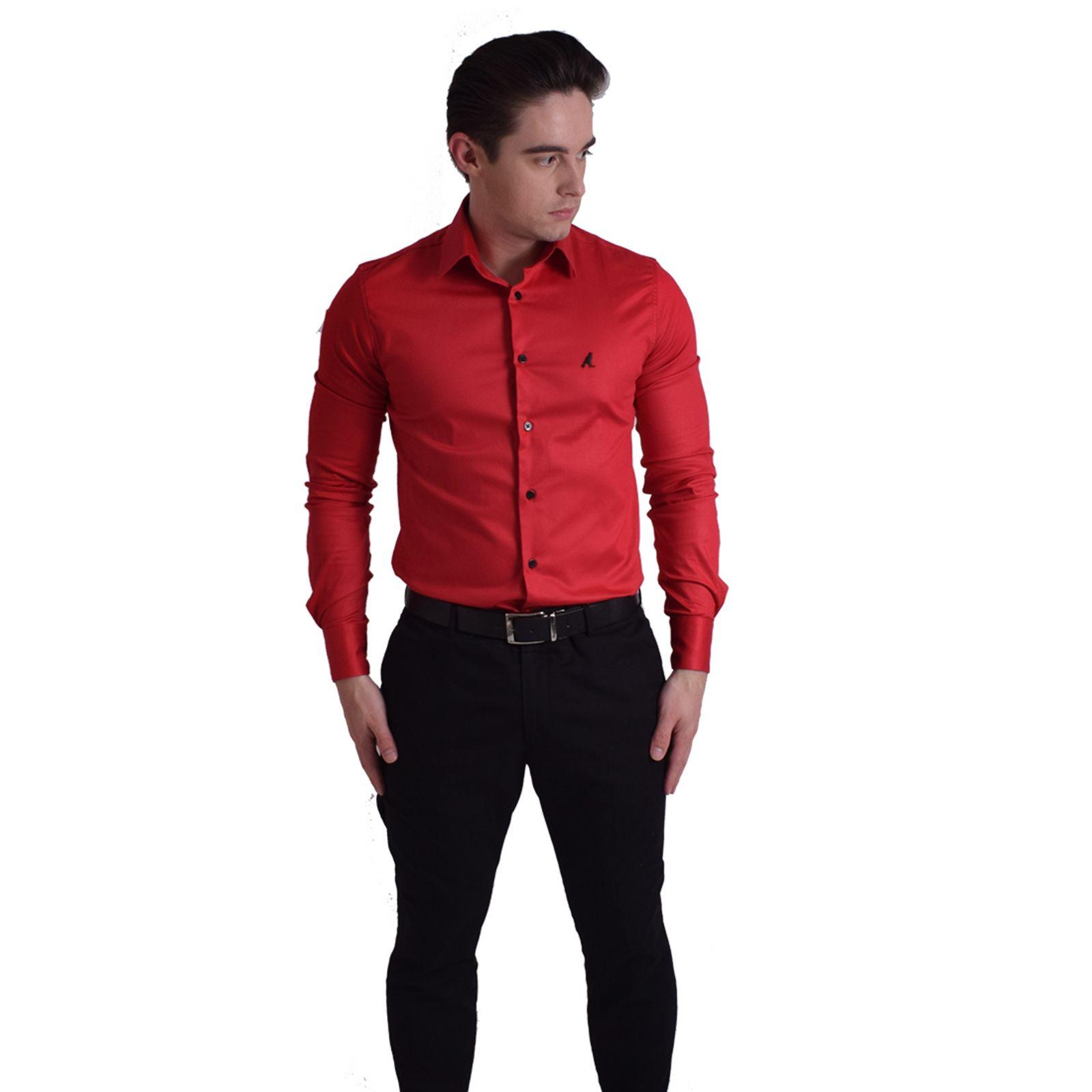 Camisa Social Masculina Slim Vermelha