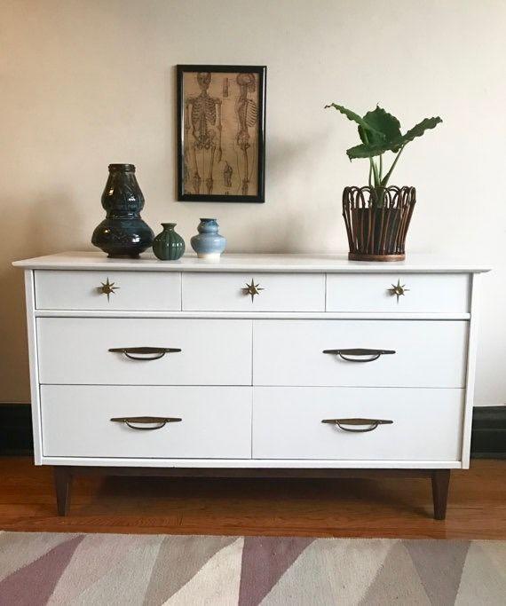 Modern Style Dresser: Refinished Midcentury Modern Kroehler Dresser