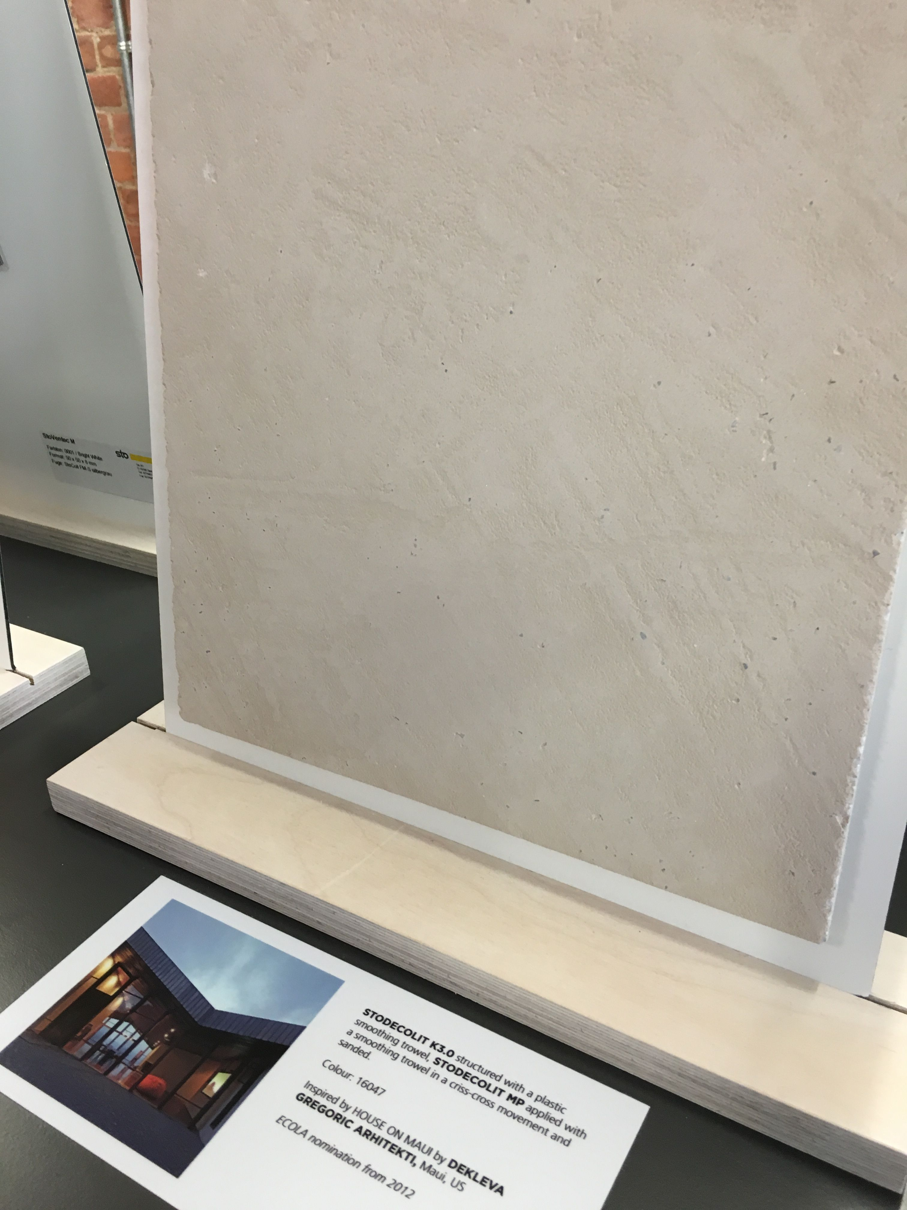 This was our favourite grey render at the Sto show room  Its