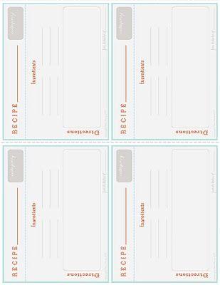 free printable recipe card Recipe scrapbook Pinterest Recipe - recipe card