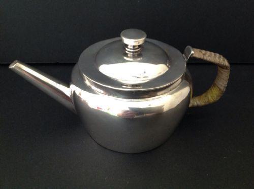 Rare Christopher Dresser Hukin Heath Tea Pot Antique English Sterling Silver
