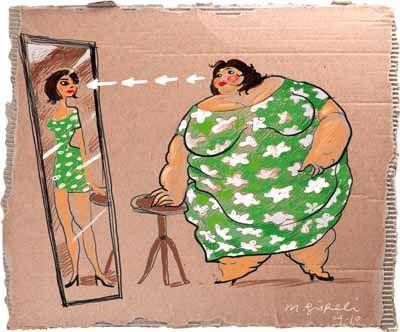 Fatorexia, eating disorder opposite  to anorexia (trastorno alimenticio opuesto a la anorexia)