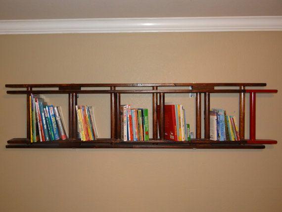 handmade unique ladder bookshelf perfect for your little