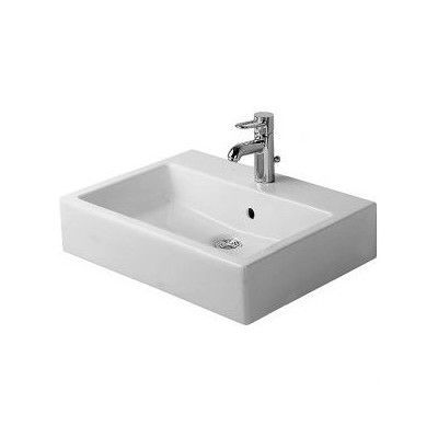 Duravit Vero Ceramic Rectangular Vessel Bathroom Sink with Overflow