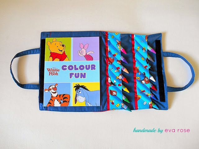 Carrying Case For A Coloring Book And Crayons Great Tutorial With Lots Of Good Photos