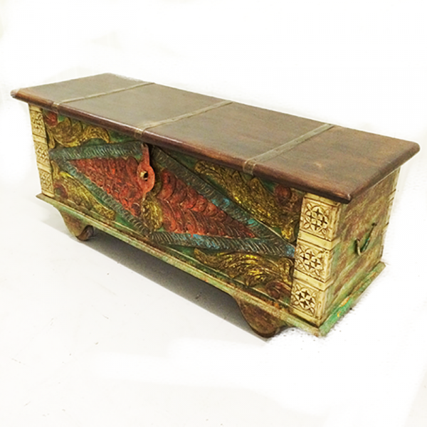 Indian Painted Storage Trunk