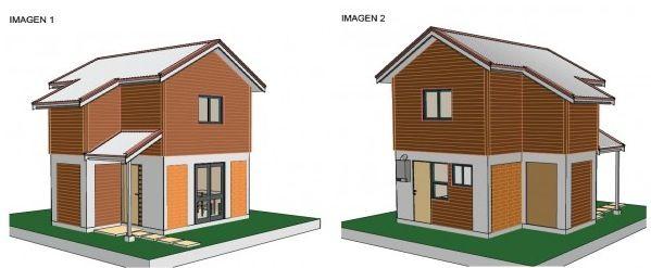 Fachada muebles pinterest fachadas casas modernas y for Fachadas de casas de 2 pisos pequenas