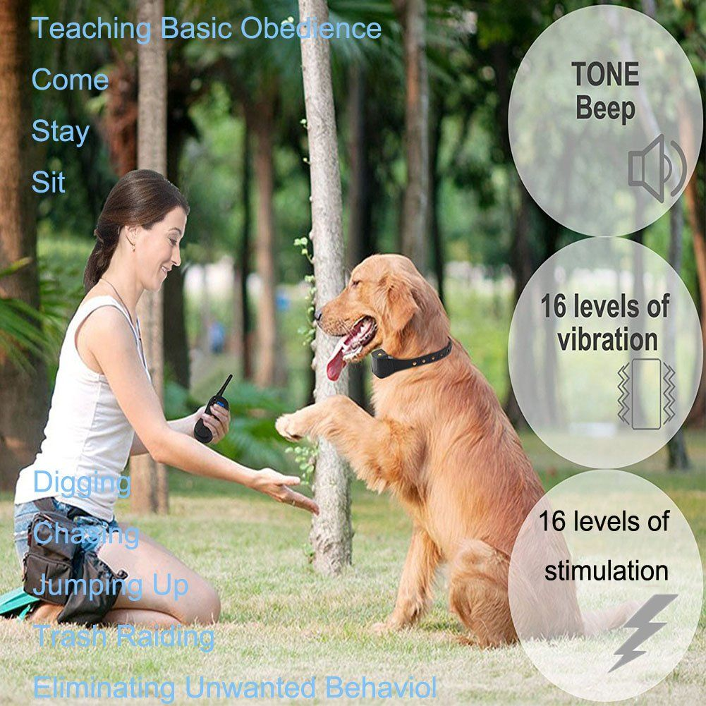 Tritust Dog Training Collar 600 Yd Remote Waterproof Rechargeable