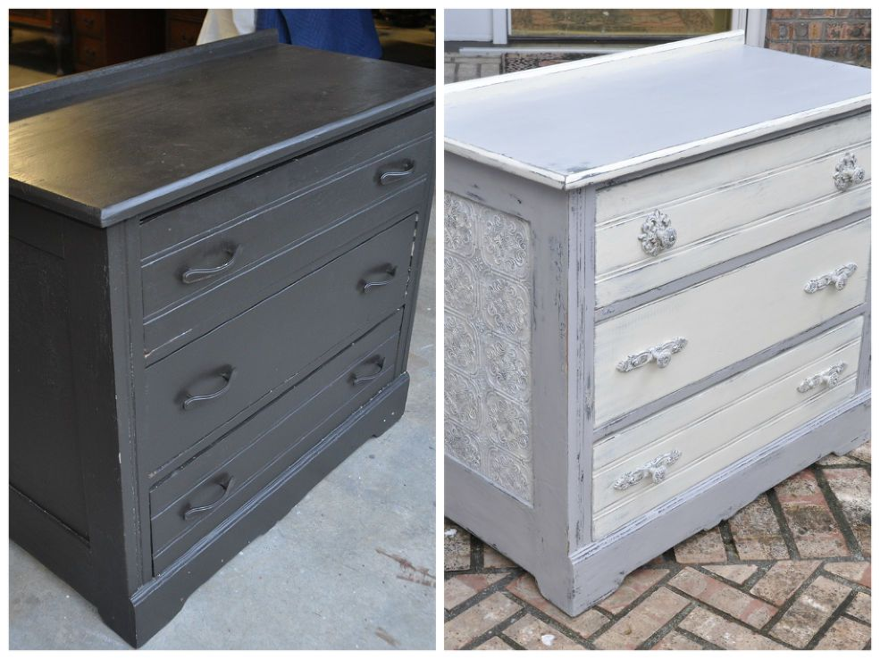 Dumpster To Rustic Diva Dresser How To Use Wallpaper On