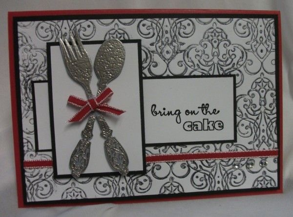 Julia's Cards: cutlery- bring on the cake!!!!