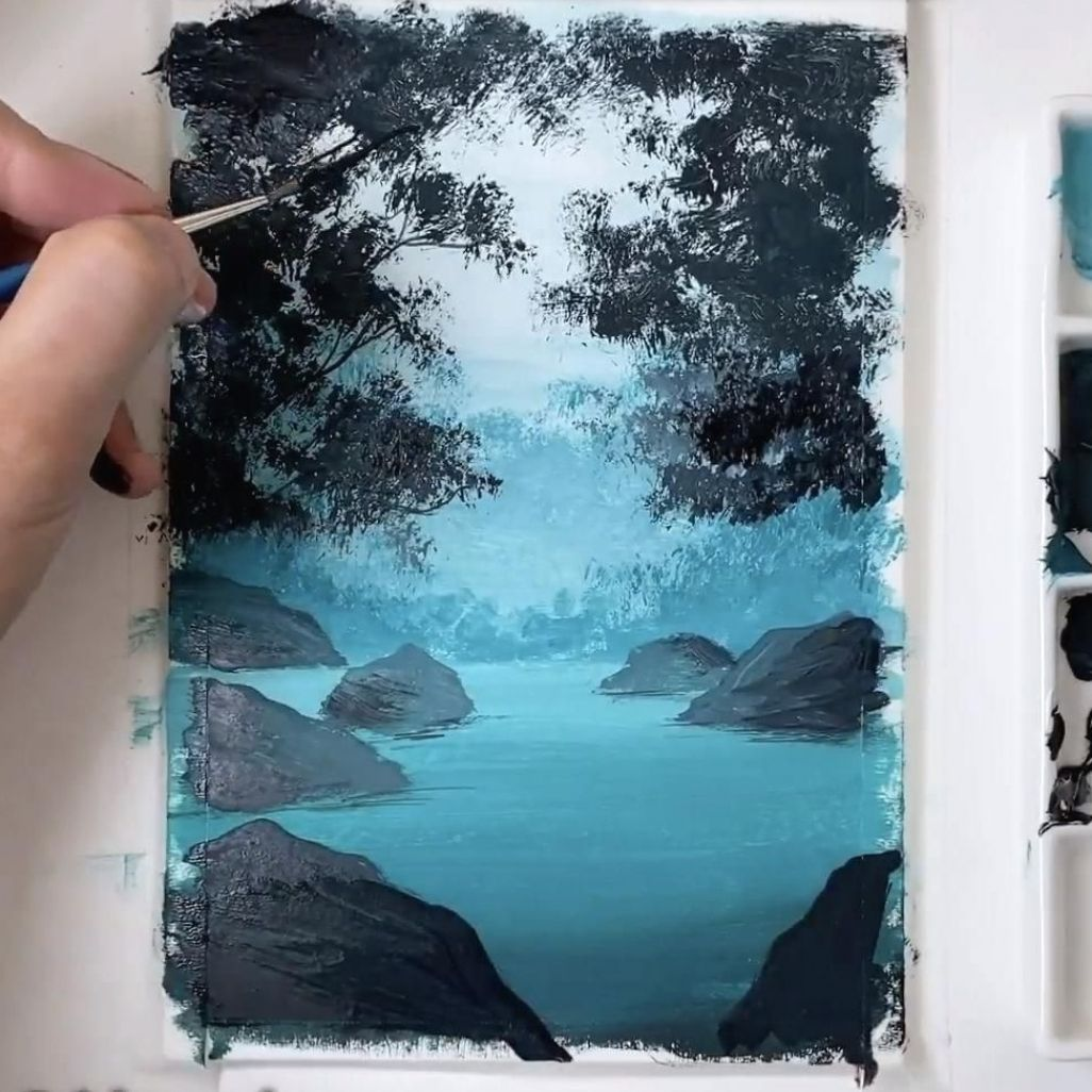 gouache painting tutorial step by step   how to pa