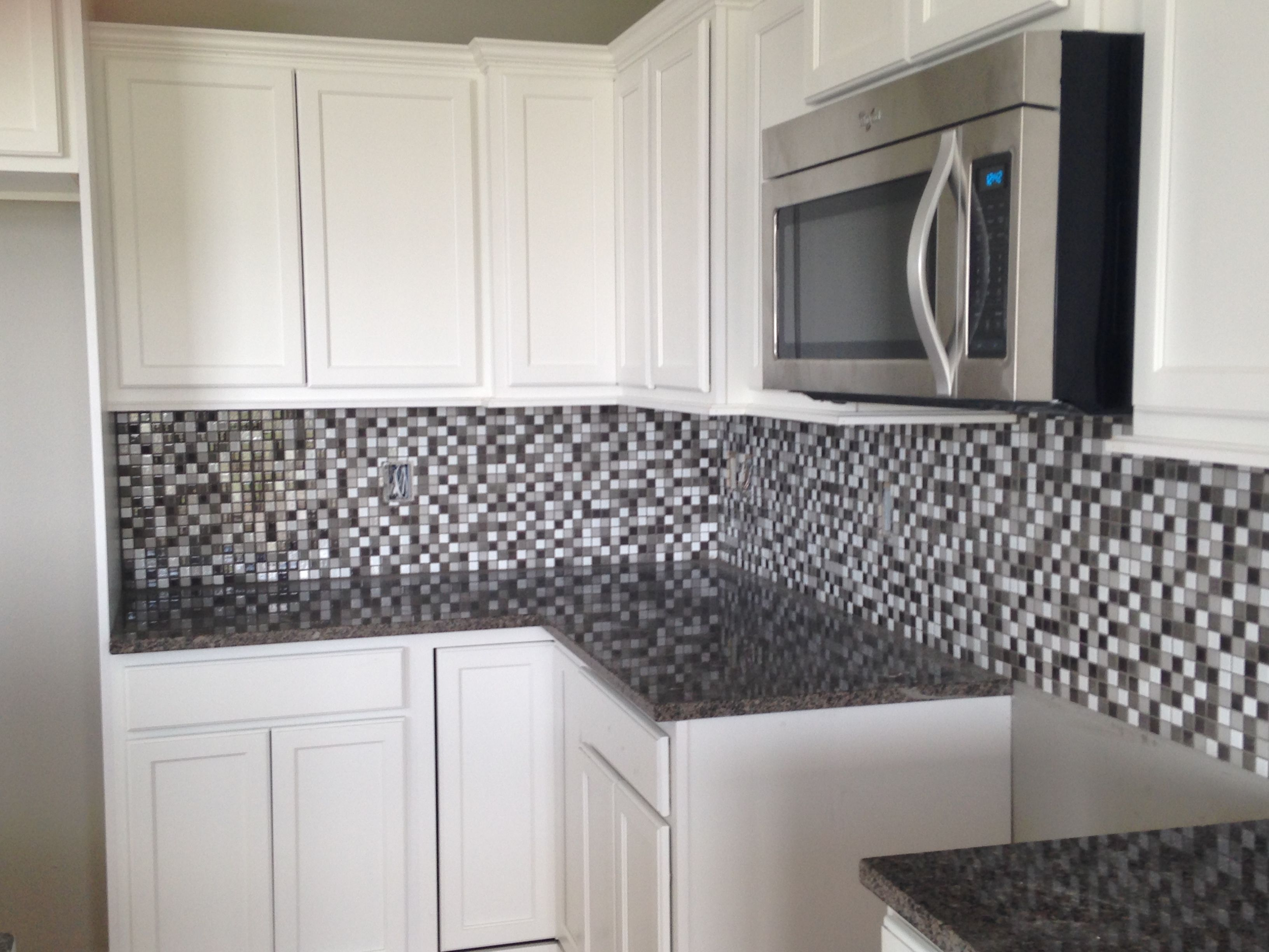 Kitchen backsplash in a 1x1 ceramic mosaic design by dennis kitchen backsplash in a 1x1 ceramic mosaic dailygadgetfo Image collections