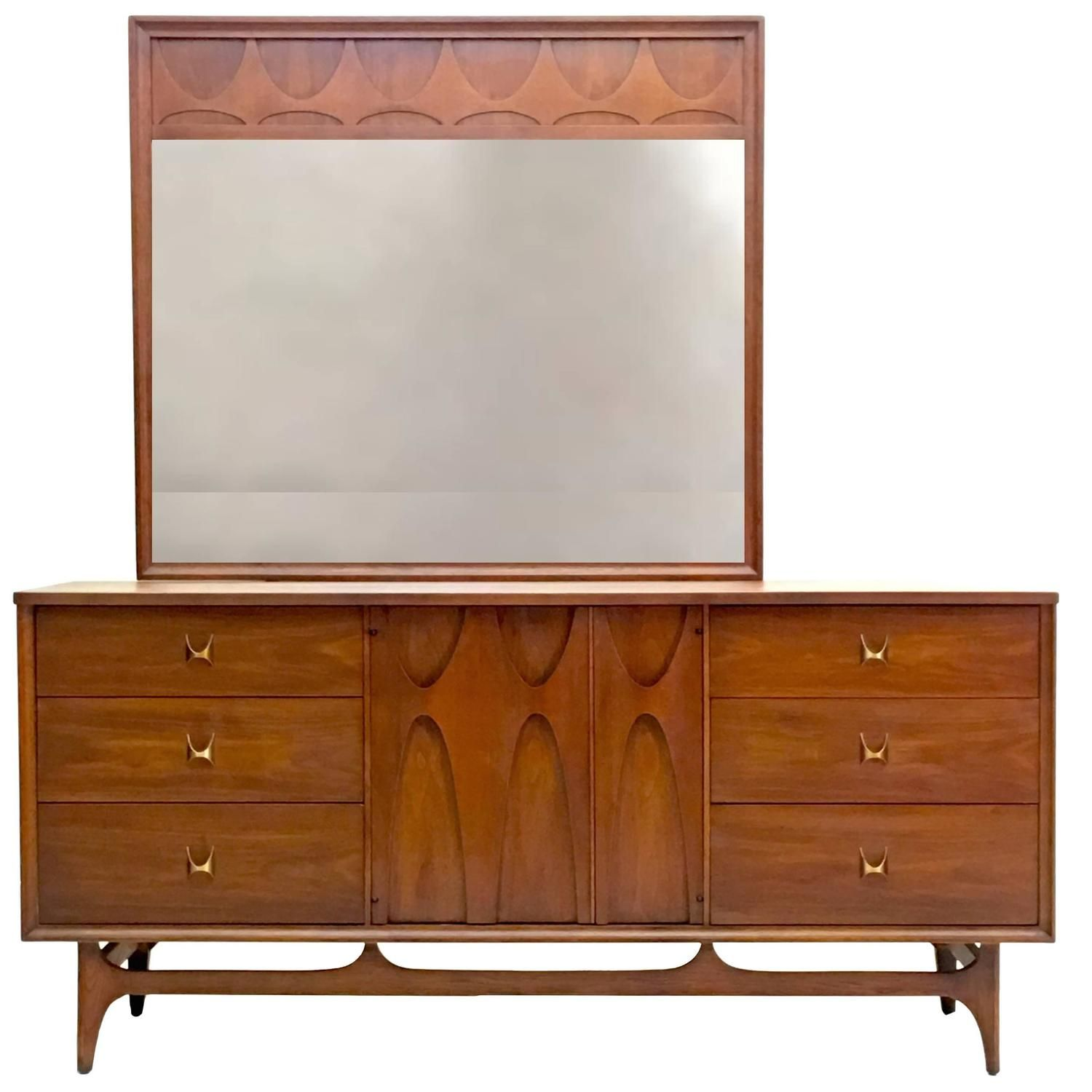 Best Beautiful Brasilia Dresser With Large Mirror Mid 400 x 300