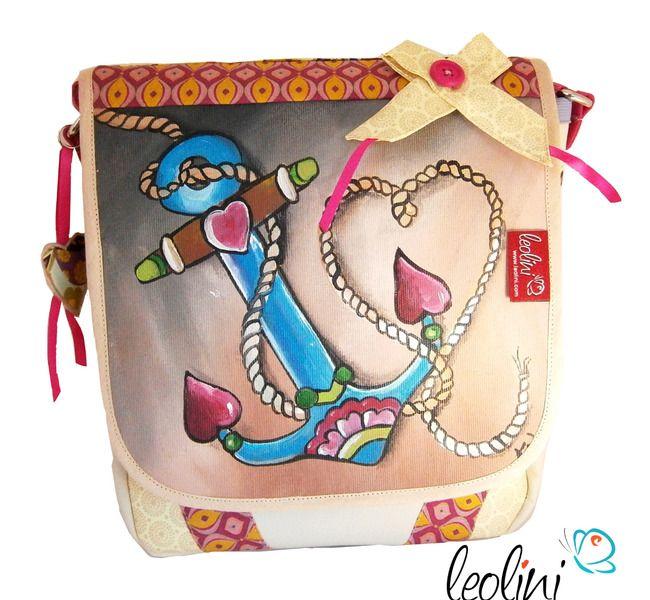 Tasche Malerei mit Anker von Leolini - CreA(R)Tive design for you!  NUR MEHR HEUTE -15%