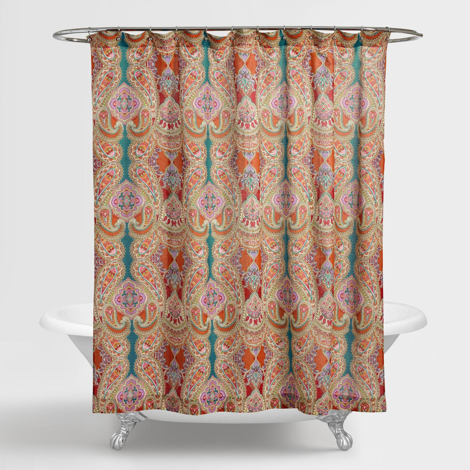 Air Curtain Shower Our Venice Paisley Shower Curtain Adds A Whimsical Air With Its