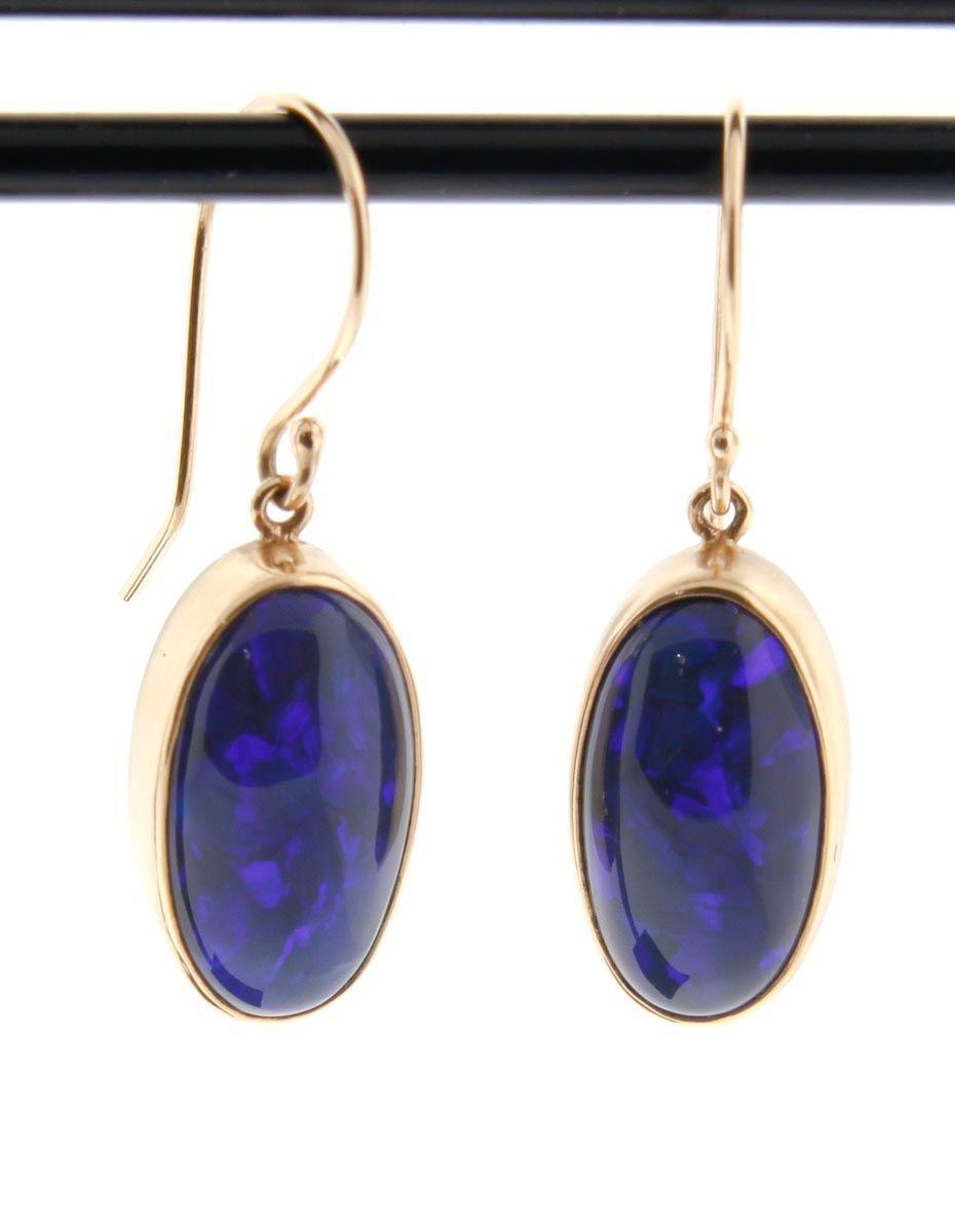 NEWTWIST Australian Black Opal Earrings $1530.00 USD #blackopal #AustralianBlackOpal