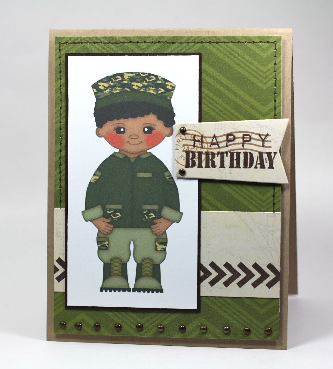 Happy Birthday Soldier Boy by AR Resale Clipart