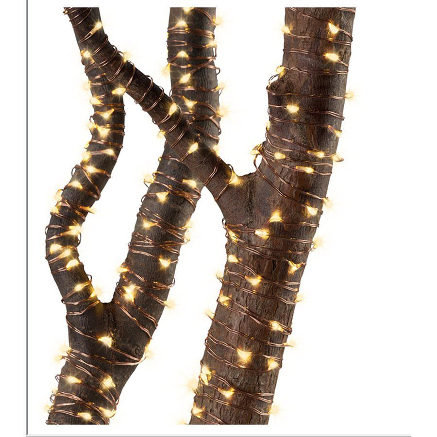 Led Rope Lights Lowes Pleasing Lowes Gemmy 105Ft Indooroutdoor Plugin Copper Wire String Lights Decorating Design