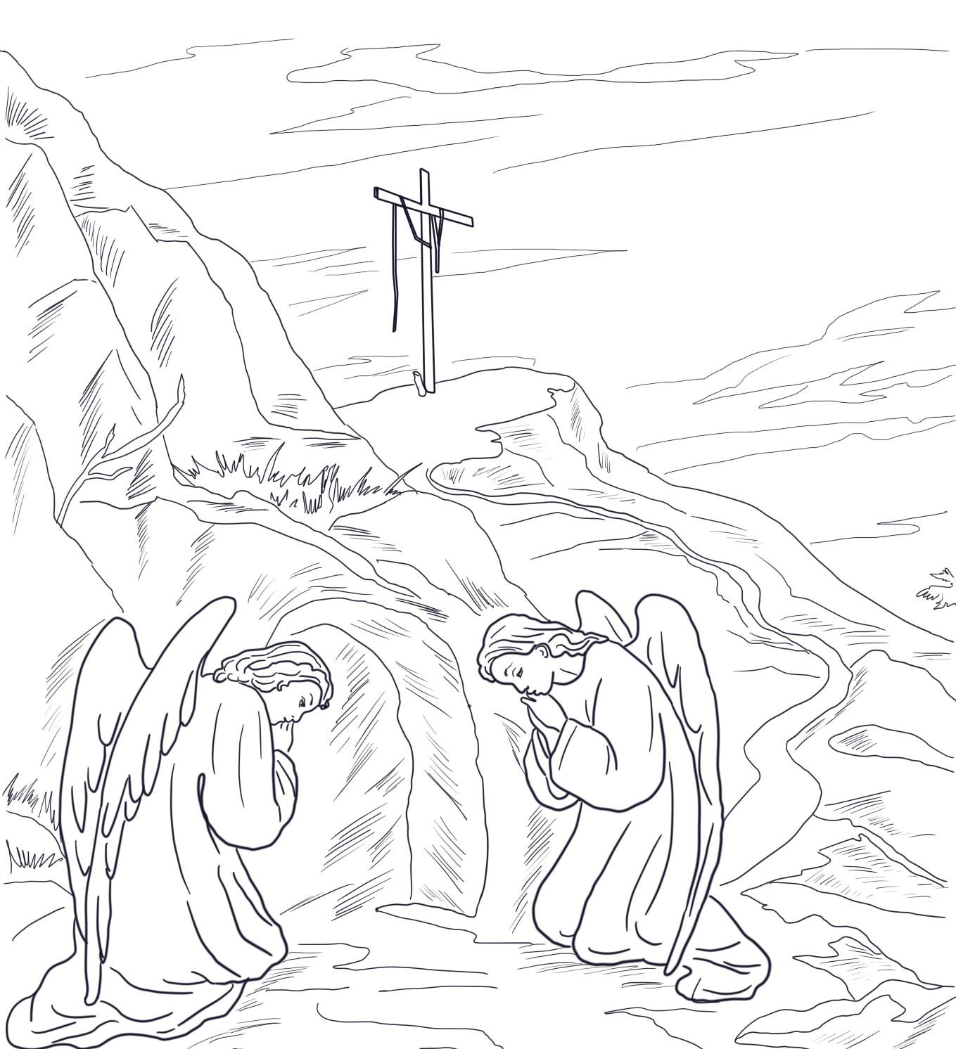 Empty Tomb Coloring Page From Jesus Resurrection Category Select 27278 Printable Crafts Of Cartoons Nature Animals Bible And Many More