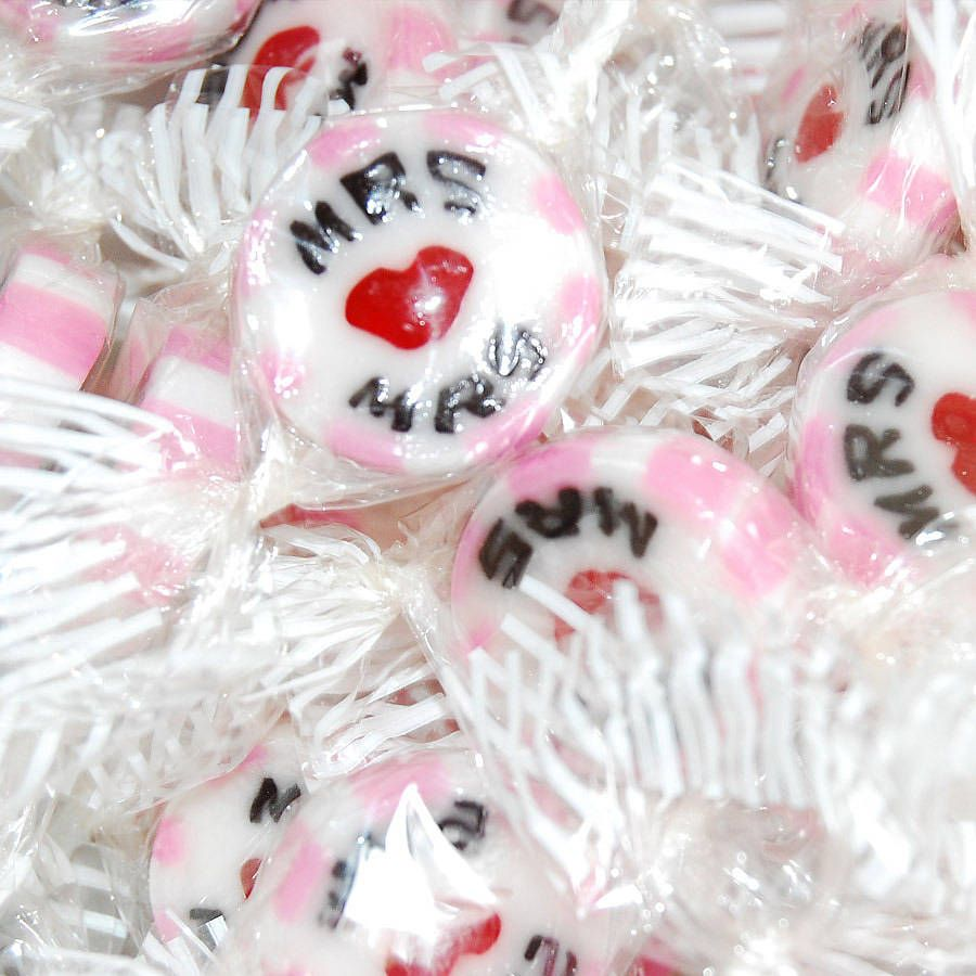Mrrs Wedding Favour Rock Sweets By Pink And Turquoise Notonthehighstreet