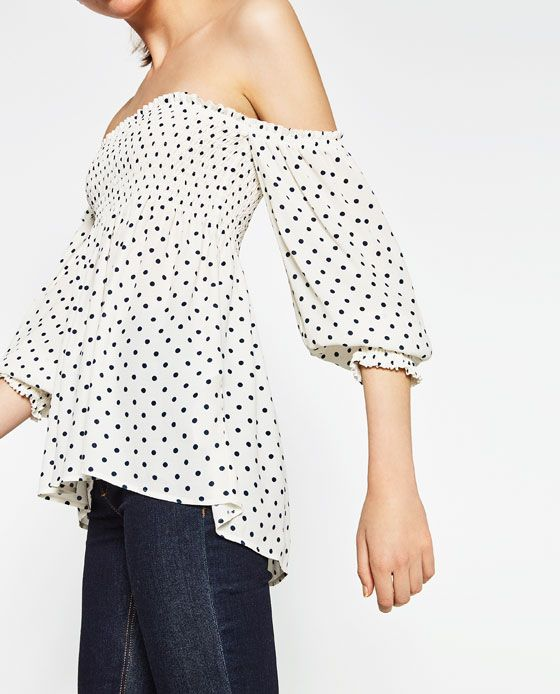 5e278c33 Image 3 of OFF-THE-SHOULDER TOP from Zara | WEAR | Tops, Off the ...