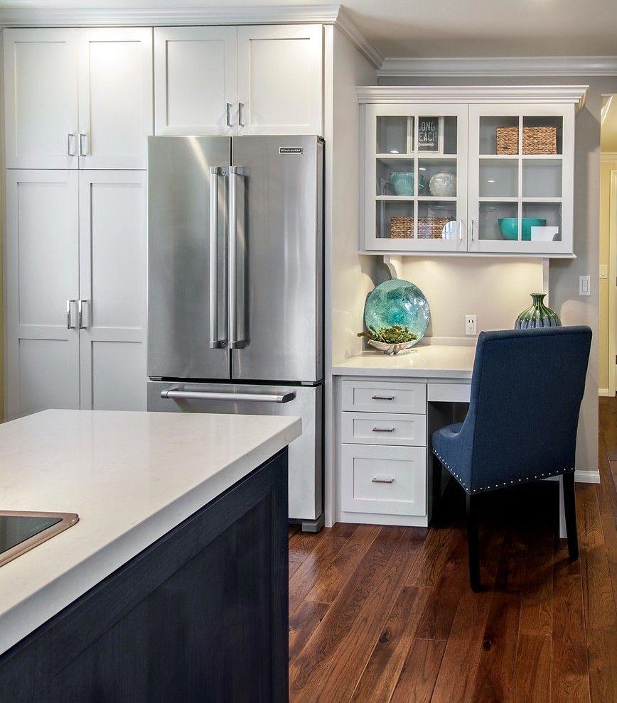 Built in Desk Cabinets Kitchen Beach with Beach Cottage Beach Style   Kitchen  Kitch