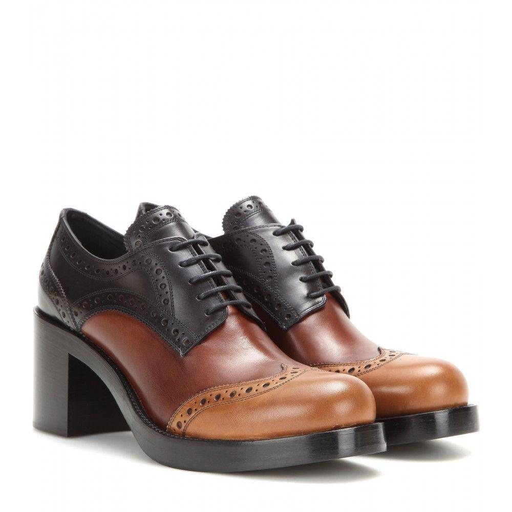 Miu Miu Anklebooties   Oxford schuh, Braune flache schuhe
