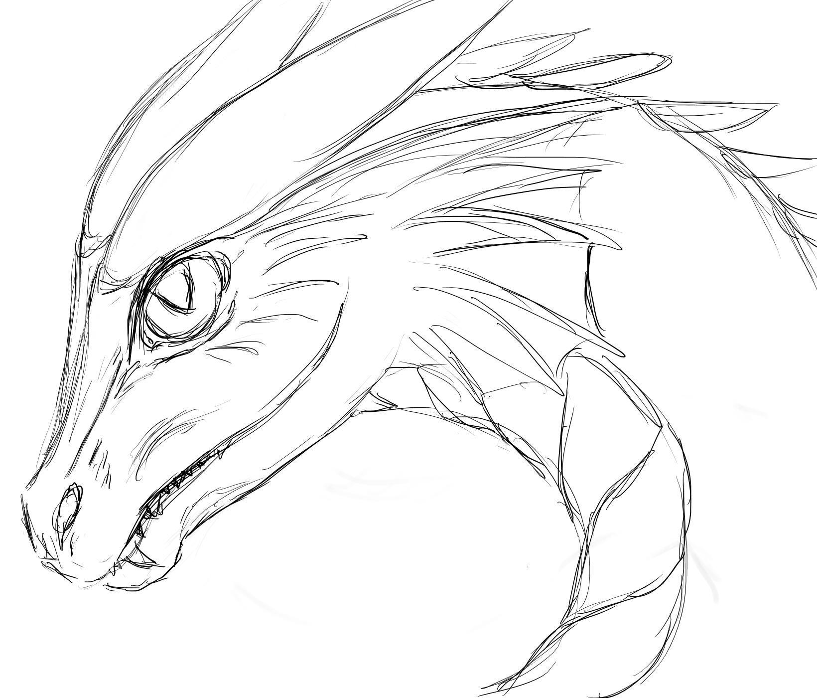 Gezeichneter Drachenkopf Drachen In 2019 Drawings Dragon Und